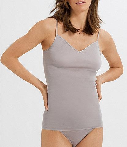 Hanro Solid V-Neck Seamless Adjustable Strap Camisole
