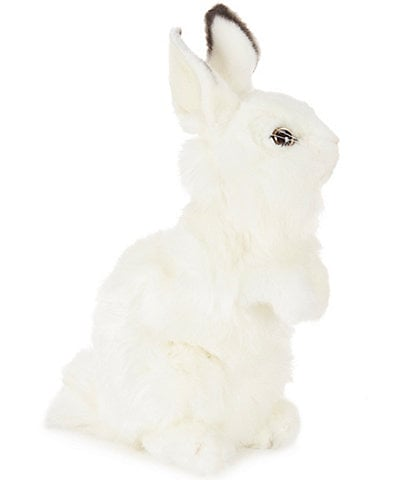 Hansa 12.75#double; Plush Baby White Bunny Rabbit