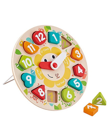 Hape Chunky Clock Puzzle Toy