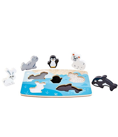 Hape Polar Animal Tactile Puzzle Toy