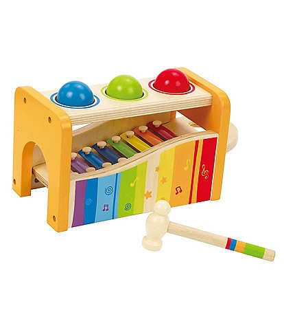 Hape Instrumental Pound And Tap Music Bench Toy
