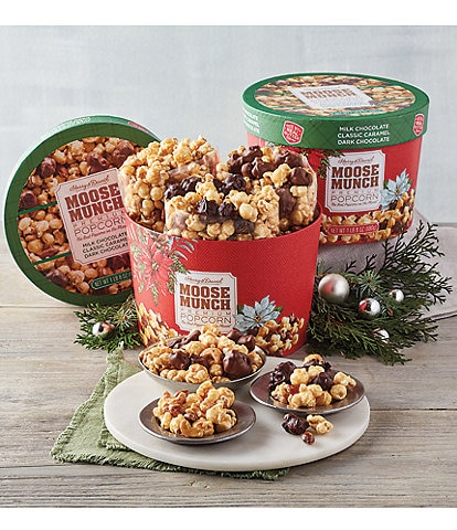 Harry and David Holiday Moose Munch Drum Set of 2