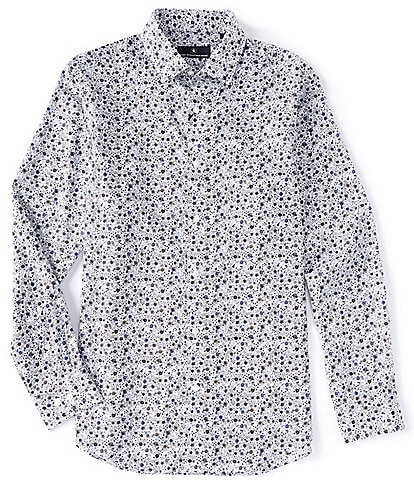 Hart Schaffner Marx Big & Tall Floral Print Long-Sleeve Woven Shirt