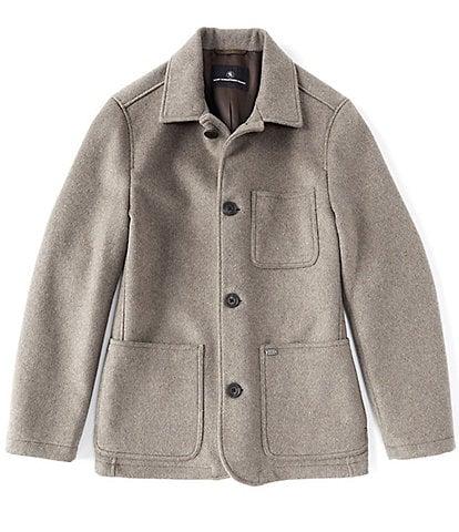 Hart Schaffner Marx Canyon Beefy Chore Wool Blend Button Front Jacket