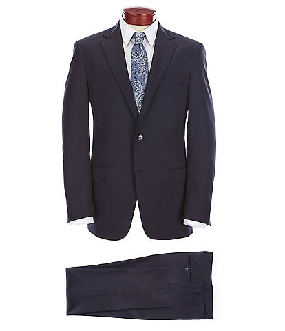 Hart Schaffner Marx Chicago Classic Fit Solid Wool Blend Stretch Suit