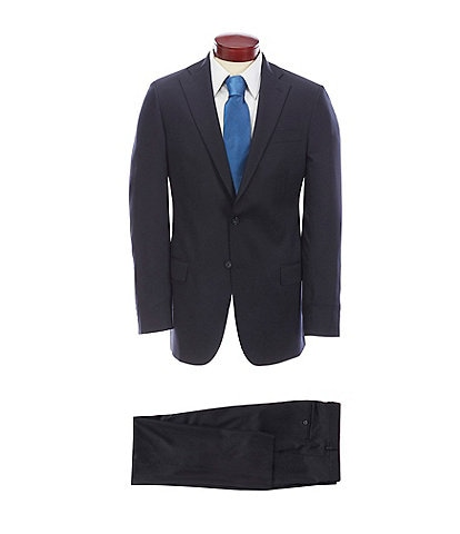 Hart Schaffner Marx Chicago Classic Fit Solid Wool Blend Suit