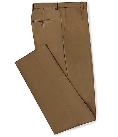 Hart Schaffner Marx Classic Fit Flat Front Solid Dress Pants
