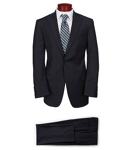 Hart Schaffner Marx Classic Fit Striped Suit