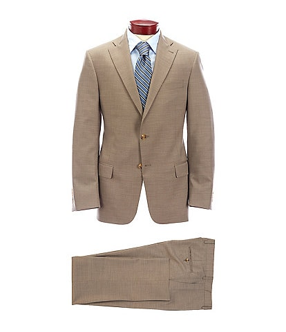 Hart Schaffner Marx Classic Fit Tan Solid Wool Blend Suit