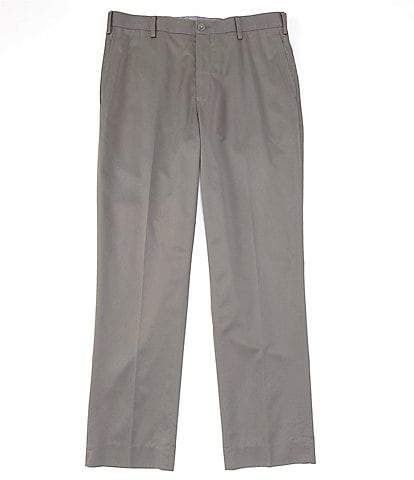 Hart Schaffner Marx Flat-Front Twill Relaxed Fit Chino Suit Separates Dress Pants