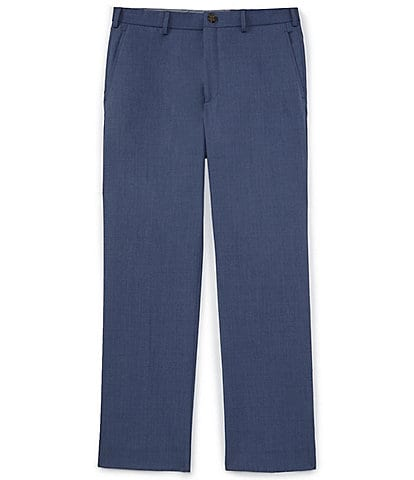 Hart Schaffner Marx Flat-Front Zip Pockets Relaxed Fit Heathered Trouser Casual Pants