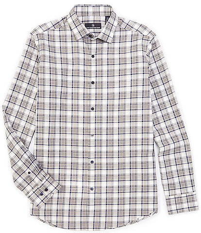 Hart Schaffner Marx Long-Sleeve Large Plaid Sportshirt