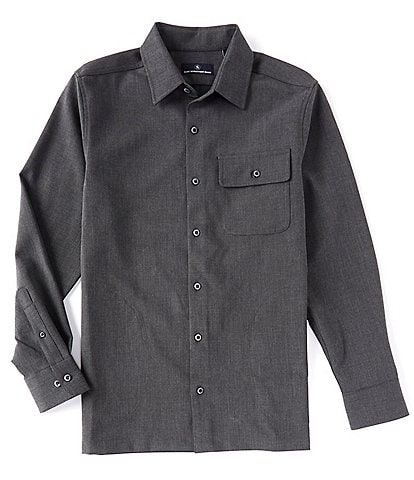 Hart Schaffner Marx Long Sleeve Pocket Detail Shirt Jacket