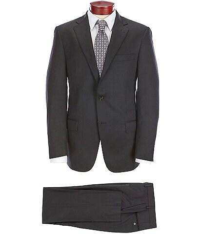 Hart Schaffner Marx Modern Fit Flat-Front Solid Suit
