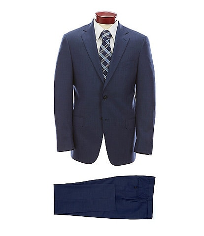Hart Schaffner Marx Modern Fit Solid Blue Wool Suit