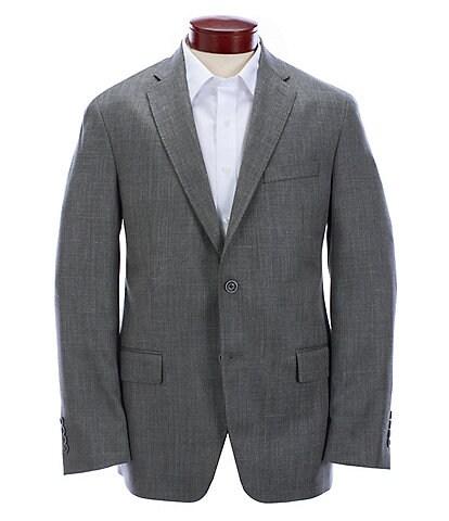 Hart Schaffner Marx Modern Fit Solid Grey Wool Blend Sportcoat