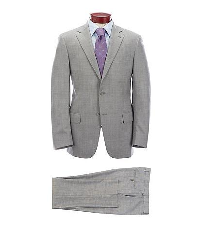 Hart Schaffner Marx Modern Fit Solid Grey Wool Suit
