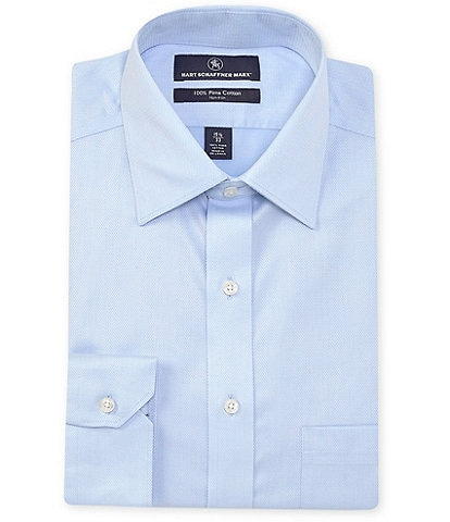 Hart Schaffner Marx Non-Iron Classic Fit Spread Collar Solid Dress Shirt