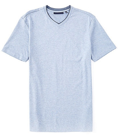 Hart Schaffner Marx Solid Short Sleeve V-Neck T-Shirt