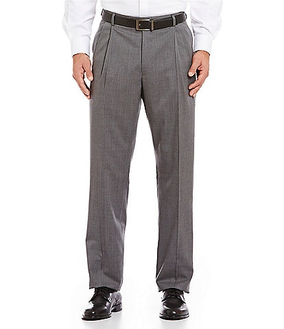 Hart Schaffner Marx Tailored Pleated Washable Wool Regular Chicago Fit Dress Pants