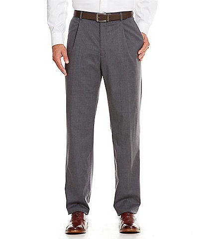 Hart Schaffner Marx Tailored Single-Pleat Regular Chicago Fit Dress Pants