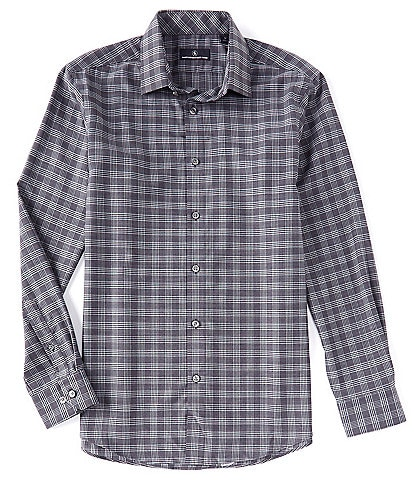 Hart Schaffner Marx Tech Long Sleeve Plaid Performance Sportshirt