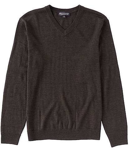 Hart Schaffner Marx V-Neck Merino Wool Sweater