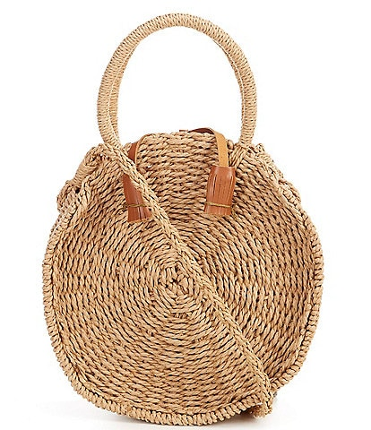 Hat Attack Cosmo Straw Cricle Crossbobody Bag