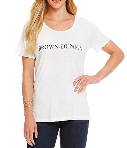 Heritage #double;Brown-Dunkin#double; Logo Tee