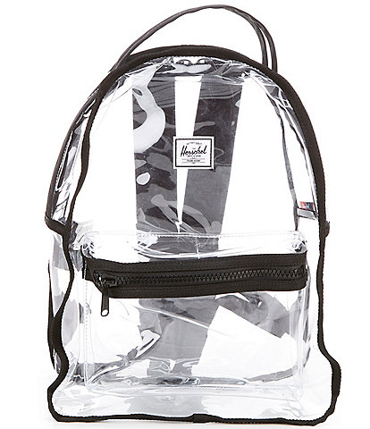 Herschel Supply Co. Nova Clear Plastic Exposed Zipper Mid- Volume Backpack