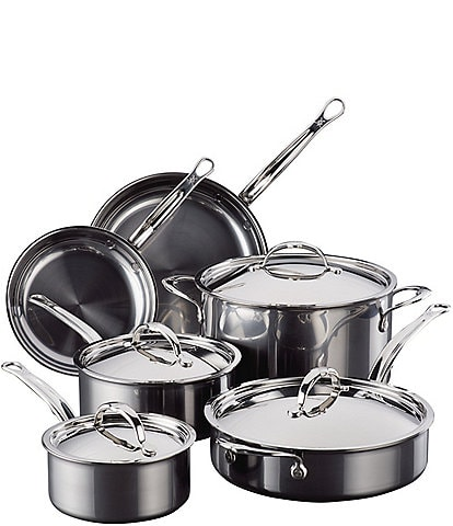Hestan NanoBond Titanium Stainless Steel Essential Cookware, 10-Piece