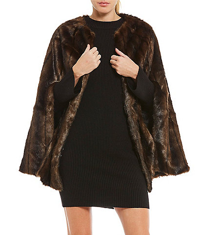 Levivel 1206 Faux-Fur Cape