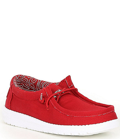 Hey Dude Boys' Wally Canvas Washable Slip-On Sneakers (Toddler)