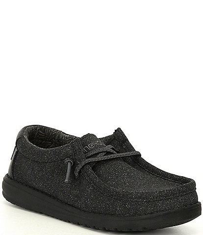 Hey Dude Boys' Wally Cotton Canvas Washable Slip-On Sneakers (Toddler)