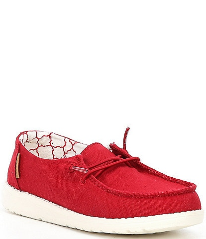 Hey Dude Girls' Wendy Canvas Slip Ons Youth
