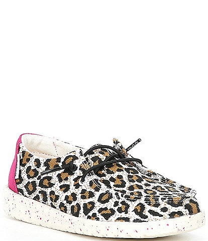 Hey Dude Girls' Wendy Cheetah Printed Washable Slip-Ons (Toddler)