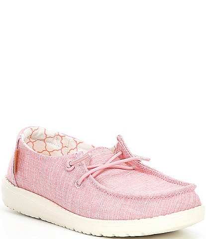 Hey Dude Girls' Wendy Linen Washable Slip-Ons (Toddler)