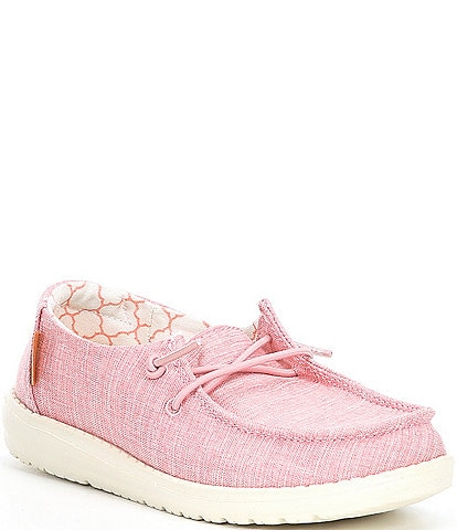 Hey Dude Girls' Wendy Linen Slip-Ons (Youth)