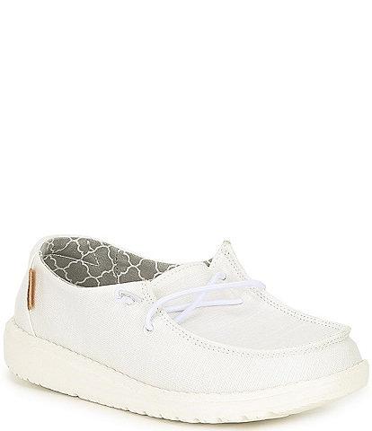 White Hey Dude Shoes for Women, Men