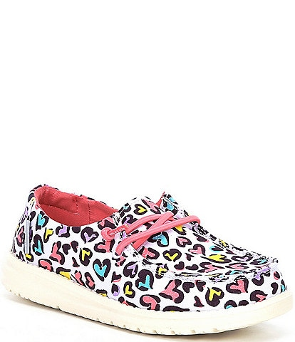 Hey Dude Girls' Wendy Multi Leopard Washable Slip-Ons (Youth)