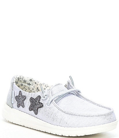Hey Dude Girls' Wendy Silver Washable Slip-Ons (Toddler)