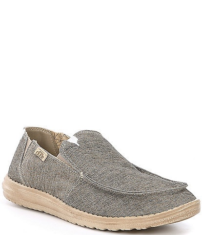 Hey Dude Men's Chan Stretch Fleece Linen Slip-Ons