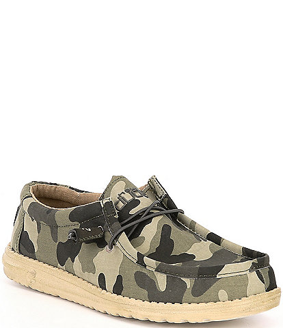 Hey Dude Men's Wally Camouflage Washable Canvas Shoes