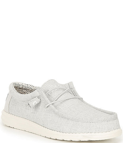 Hey Dude Men's Wally Chambray Washable Slip-Ons