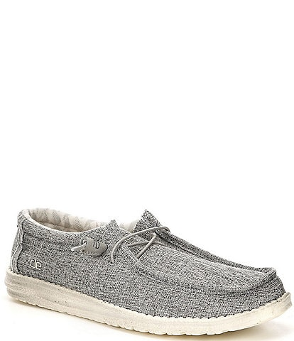 Hey Dude Men's Wally Linen Chukka