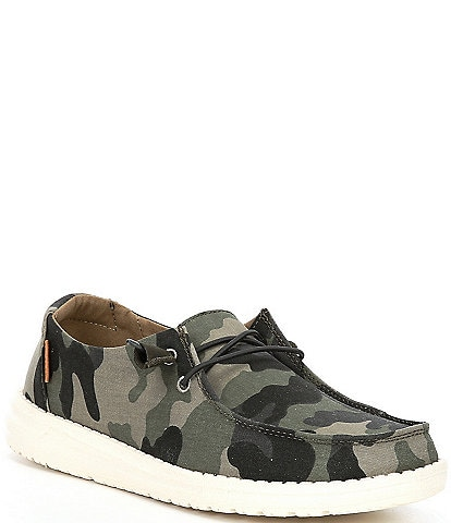 Hey Dude Wendy Camo Canvas Washable Slip-Ons