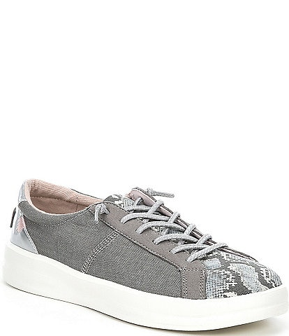 Hey Dude Women's Karina Snake Print Washable Lace-Up Sneakers