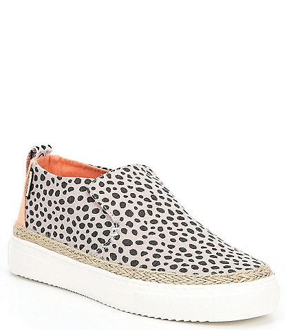 Hey Dude Women's Peyton Cheetah Print Washable Mid Slip-Ons