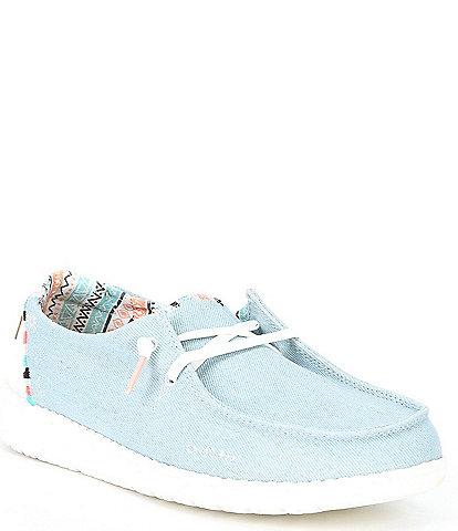 Hey Dude Women's Wendy Canvas Boho Washable Slip-Ons