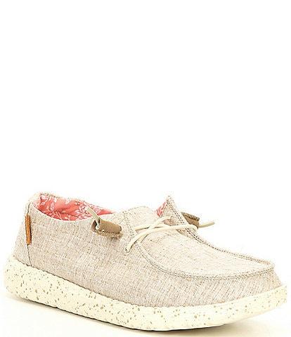 Hey Dude Women's Wendy Chambray Slip On Sneakers